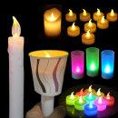 3개세트 LED 건전지 촛불 티라이트 양초 집회 이벤트
