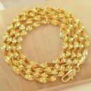 18k Gold-filled 24 inch 목걸이 체인 정품 도금 선물