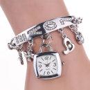 LOVE 은색 여성 고급 손목 시계 선물 인기 패션 사랑