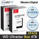 공식판매원 WD 3.5 ULTRASTAR SATA Series 4TB 2PACK