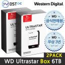 공식판매원 WD 3.5 ULTRASTAR SATA Series 6TB 2PACK