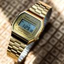 카시오 전자시계 남자 여자 학생 손목시계 A168WG-9