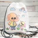 캐릭터 백팩 가방 만들기 꾸미기 DIY 색칠 미술놀이
