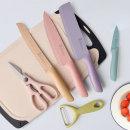 비비드 논스틱 주방용 칼세트 6종 칼/가위/감자칼