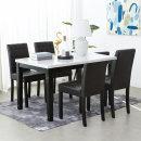 제니스 에코 4인용 대리석 식탁세트 (의자형)