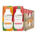 상하 유기농주스 사과딸기케일+사과오렌지케일 총 48팩