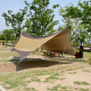 소울캠핑 헥사 타프 5.6m /햇빛차단 방수 그늘막
