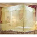 샤인 바닥일체형 침대 모기장 (베이지 200x200x170cm)