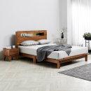 멀바우 원목 다리형 평상형 LED 조명 침대 슈퍼싱글3