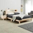 편백 원목 다리형 평상형 LED 조명 침대 슈퍼싱글2
