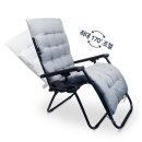 리클라이너 접이식 의자 1인용 캠핑 쿠션 세트 블루