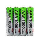 충전지 AAA 1000mAh 충전 배터리 건전지 4개입