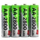 충전지 AA 2800mAh 충전 배터리 건전지 4개입