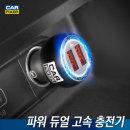 파워 듀얼 고속충전기 차량용 시거잭 퀄컴 퀵차지 3.0