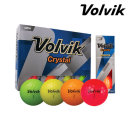볼빅 CRYSTAL (12개) 크리스탈 3피스 컬러볼 골프공