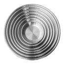 스텐 원형 접시 (2호) / 앞접시 그릇 식기 식당 주방