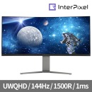모니터 IPU3433 게이밍 커브드/UWQHD/144Hz/1500R/VA