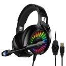 IGH-A20 7.1CH 채널 게이밍 게임 헤드셋 USB RGB LED