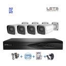 LETS 4채널 NVR 녹화기 3MP IP CCTV 고급형 KC인증